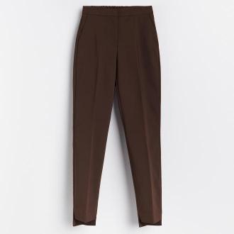 Reserved - Spodnie z kantem - Brązowy