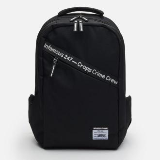 Cropp - Plecak z napisem - Czarny