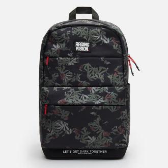 Cropp - Plecak z nadrukiem all over - Czarny