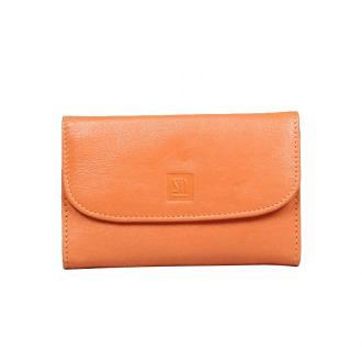 portfel skórzany damski pomarańczowy