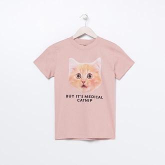 Sinsay - Koszulka z nadrukiem - Różowy