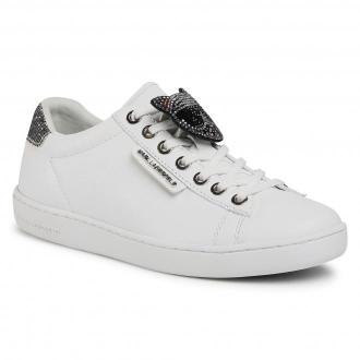 Sneakersy KARL LAGERFELD - KL61276 01S White Lthr/Silver