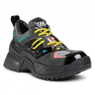Sneakersy KARL LAGERFELD - KL61535 Dk Grey Lth/Txt W/Multi