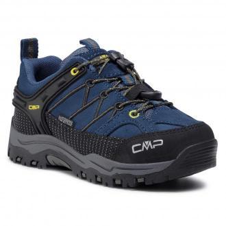 Trekkingi CMP - Kids Rigel Low Trekking Shoes Wp 3Q13244  Blue Ink/Yellow 10MF
