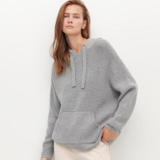 Reserved - Sweter z kapturem - Szary