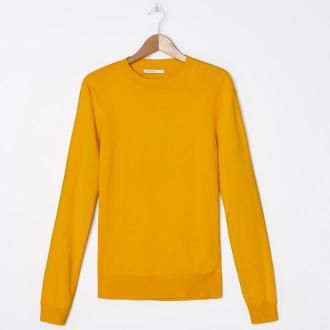 House - Sweter basic - Żółty