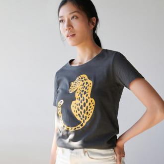 Sinsay - Koszulka z nadrukiem - Szary