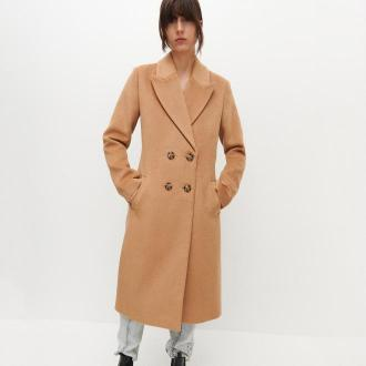 Reserved - Dwurzędowy płaszcz - Beżowy