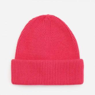 Reserved - Prążkowana czapka beanie - Różowy