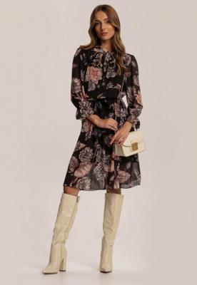 Czarno-Beżowa Sukienka Zarinnara