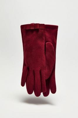 Rękawiczki z imitacji zamszu