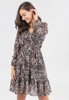 Beżowa Sukienka Eshirrelle