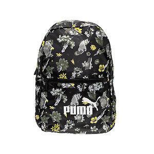 Czarny plecak Puma Sesonal Daypack w materiał w kwiaty