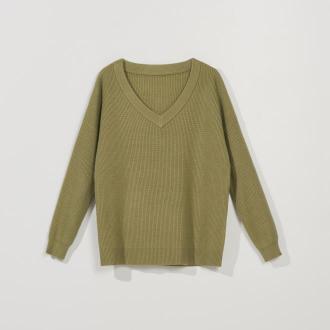 Mohito - Casualowy sweter oversize - Khaki
