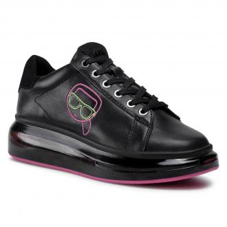Sneakersy KARL LAGERFELD - KL62639 Black Lthr w/Pink