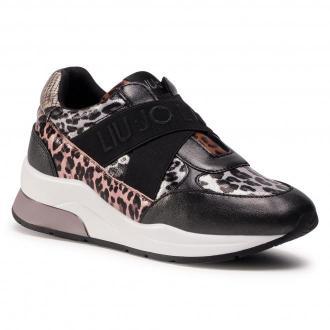 Sneakersy LIU JO - Karlie 160 4F0789 EX073 Silver/Black S1S01