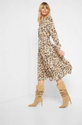Sukienka szmizjerka z wiskozy
