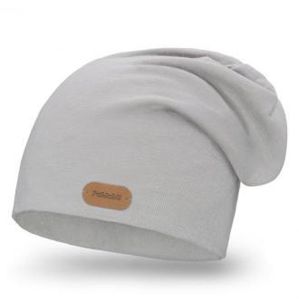 Bawełniana czapka w kolorze jasnoszarym