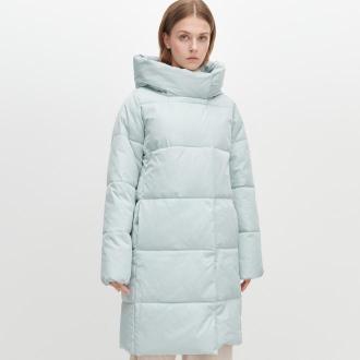 Reserved - Ocieplany płaszcz - Niebieski