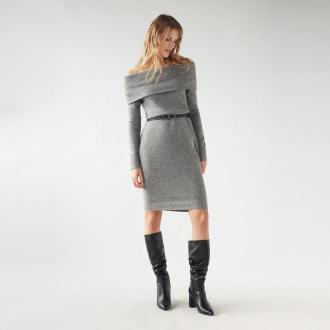 Mohito - Swetrowa sukienka Eco Aware - Szary
