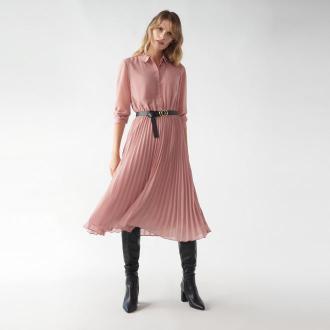 Mohito - Koszulowa sukienka z plisowanym dołem -