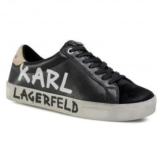 Sneakersy KARL LAGERFELD - KL60110 Black Lthr/Suede