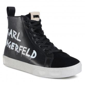 Sneakersy KARL LAGERFELD - KL60140 Black Lthr