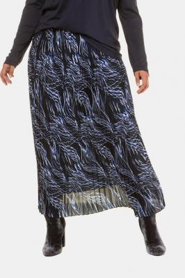 Duże rozmiary Plisowana spódnica, damska, niebieski, rozmiar: 46/48, poliester, Ulla Popken