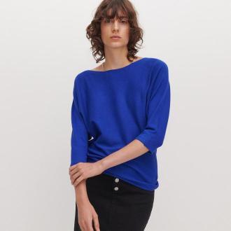 Reserved - Sweter nietoperz - Niebieski