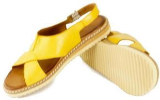 LANQIER 46C1002 żółty, sandały damskie