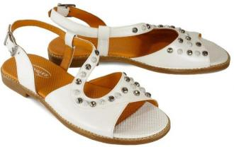 LANQIER 46C0328 81 white, sandały damskie
