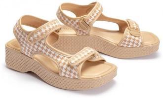 AZALEIA 321 295 (82) beige plaid, sandały damskie
