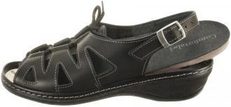 COMFORTABEL 710521-1 schwarz, sandały damskie