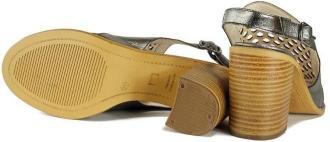 LANQIER 42C991 srebrny, sandały damskie