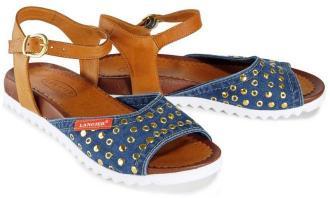 LANQIER 42C206 jeans, sandały damskie