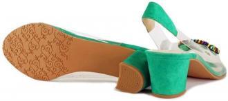 BRENDA ZARO T3611 zielony, sandały damskie