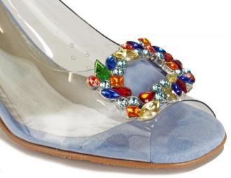 BRENDA ZARO T3151 niebieski, sandały damskie