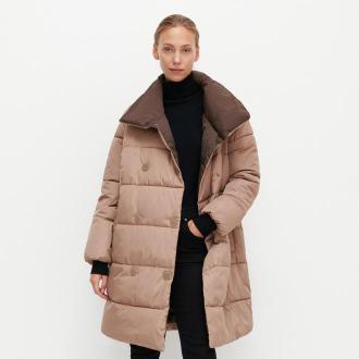 Reserved - Ocieplany płaszcz - Beżowy