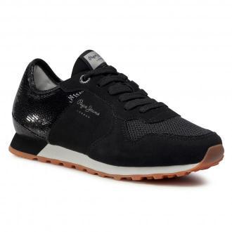 Sneakersy PEPE JEANS - Verona W Full PLS31096  Black 999