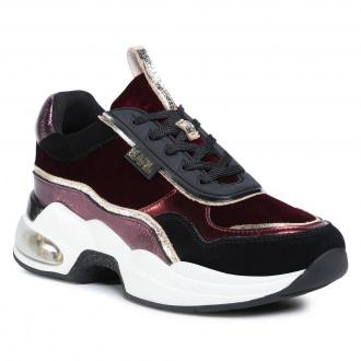 Sneakersy KARL LAGERFELD - KL61719 Wine Mix Textile