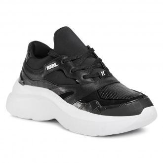 Sneakersy KARL LAGERFELD - KL61821 BlackLthr/Textile