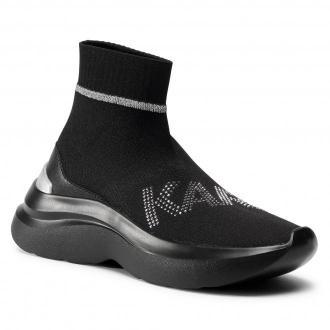 Sneakersy KARL LAGERFELD - KL61855 Black Knit Textile w/Silver
