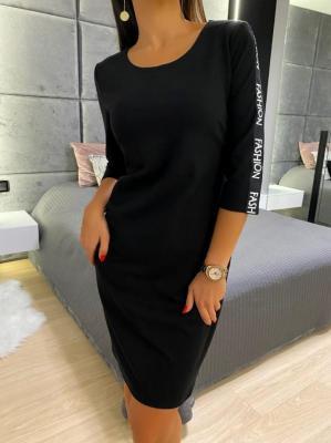 Czarna Sportowa Sukienka 4970-84-B