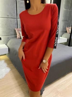 Czerwona Sportowa Sukienka 4970-84-C