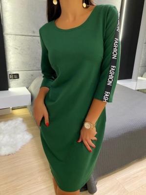 Zielona Sportowa Sukienka 4970-84-F