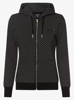 Superdry - Damska bluza rozpinana, czarny