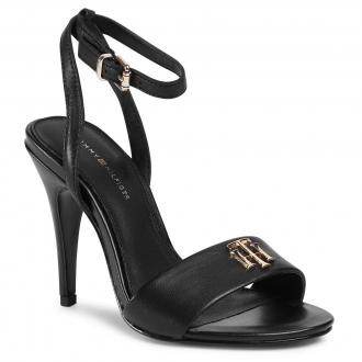 Sandały TOMMY HILFIGER - Th Hardware High Heel Sandal FW0FW05028 Black BDS