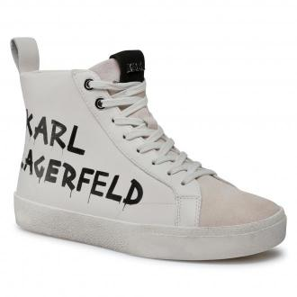 Sneakersy KARL LAGERFELD - KL60140  White Lthr/Suede