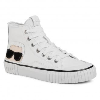 Sneakersy KARL LAGERFELD - KL60253  White Lthr 001