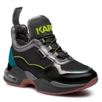 Sneakersy KARL LAGERFELD - KL61747  Dk Grey Lthr W/Multi